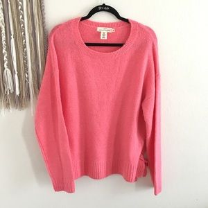 H&M L.O.G.G. Pink Side Tie Sweater